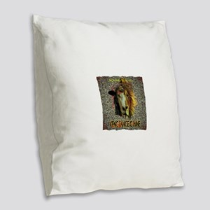 VENGEANCE IS MINE Burlap Throw Pillow