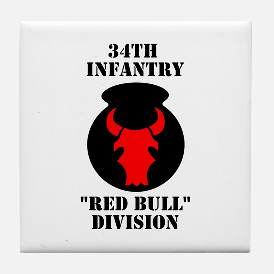 34th Infantry Division (4) Tile Coaster