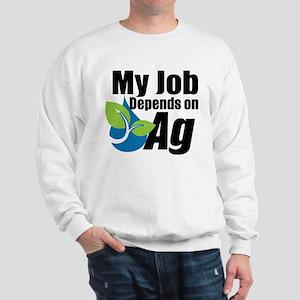 My Job Depends On Ag Logo Sweatshirt