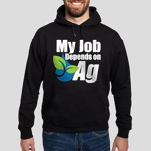 My Job Depends On Ag Logo Hoodie (dark)