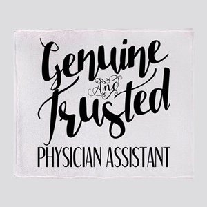 Genuine and Trusted Physician Assist Throw Blanket