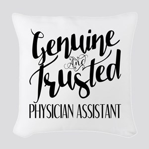 Genuine and Trusted Physician Woven Throw Pillow