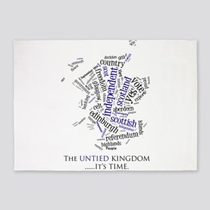 Scottish Independence Word Cloud 5'x7'Area Rug