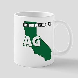 My Job Depends On Ag California Decal Mugs
