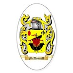 McDonnell (Glengarry) Sticker (Oval 50 pk)