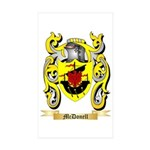 McDonell Sticker (Rectangle 50 pk)