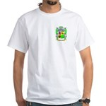 McDonald (Slate) White T-Shirt