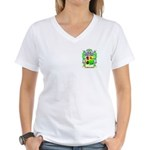 McDonald (Slate) Women's V-Neck T-Shirt