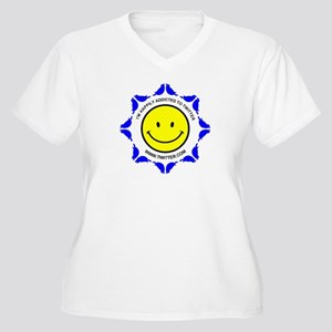 I'm Happily Addic Women's Plus Size V-Neck T-Shirt