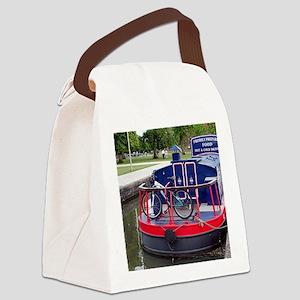 Baguette Barge,Stratford, England Canvas Lunch Bag