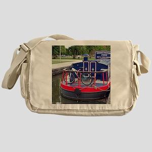 Baguette Barge,Stratford, England Messenger Bag