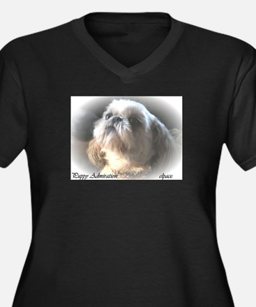 Unique Shih tzu Women's Plus Size V-Neck Dark T-Shirt
