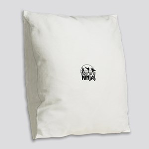 strictlyNinjas3 Burlap Throw Pillow