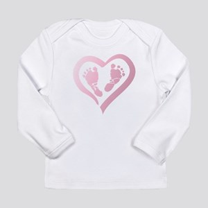 Baby Prints in Heart by LH Long Sleeve T-Shirt