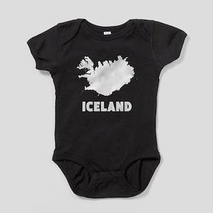 Iceland Silhouette Baby Bodysuit
