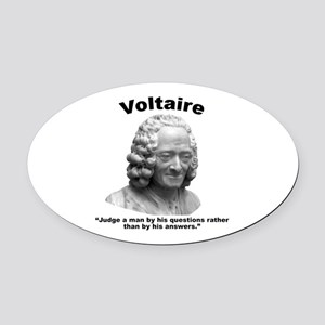 Voltaire Questions Oval Car Magnet