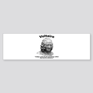 Voltaire Questions Sticker (Bumper)
