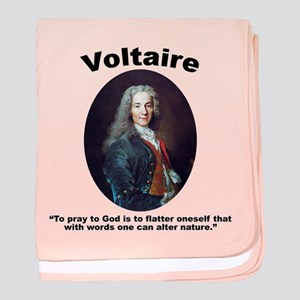 Voltaire Pray baby blanket