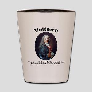 Voltaire Pray Shot Glass