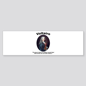 Voltaire Pray Sticker (Bumper)