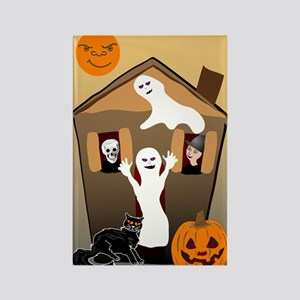 Halloween House Rectangle Magnet