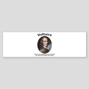 Voltaire Laws Sticker (Bumper)