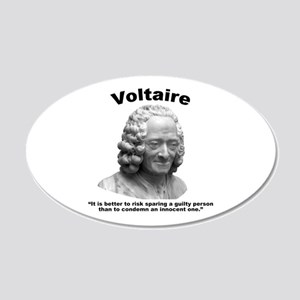 Voltaire Innocent 20x12 Oval Wall Decal