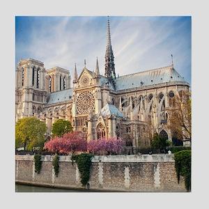 Notre Dame Cathedral Tile Coaster