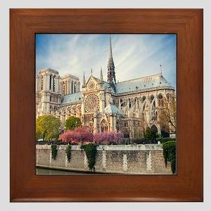 Notre Dame Cathedral Framed Tile
