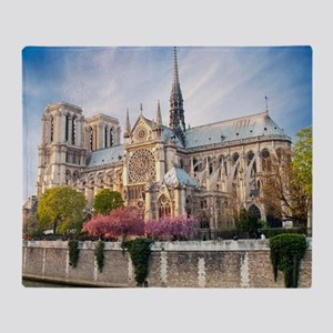Notre Dame Cathedral Throw Blanket