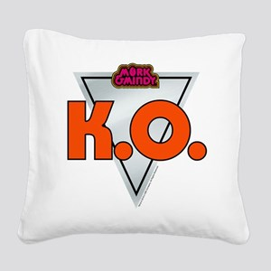Mork and Mindy: K.O. Square Canvas Pillow