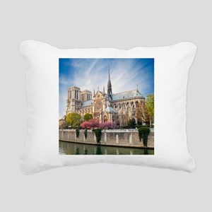 Notre Dame Cathedral Rectangular Canvas Pillow