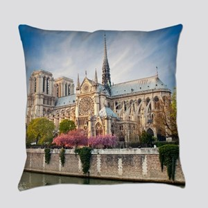 Notre Dame Cathedral Everyday Pillow