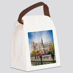Notre Dame Cathedral Canvas Lunch Bag
