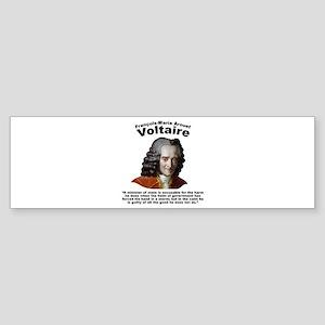 Voltaire Excusable Sticker (Bumper)