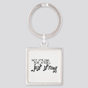 Just Strong Square Keychain