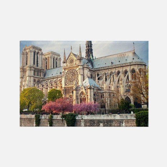 Notre Dame Cathedral Rectangle Magnet