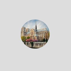 Notre Dame Cathedral Mini Button