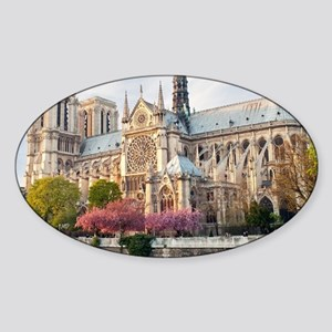 Notre Dame Cathedral Sticker (Oval)