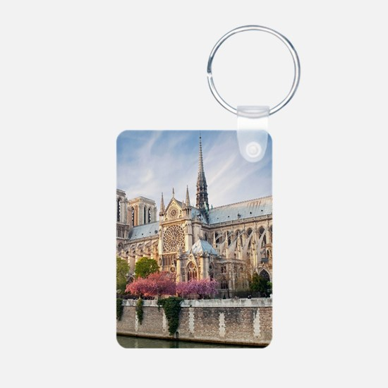 Notre Dame Cathedral Aluminum Photo Keychain