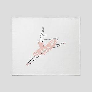 Pretty Pink Ballerina Throw Blanket
