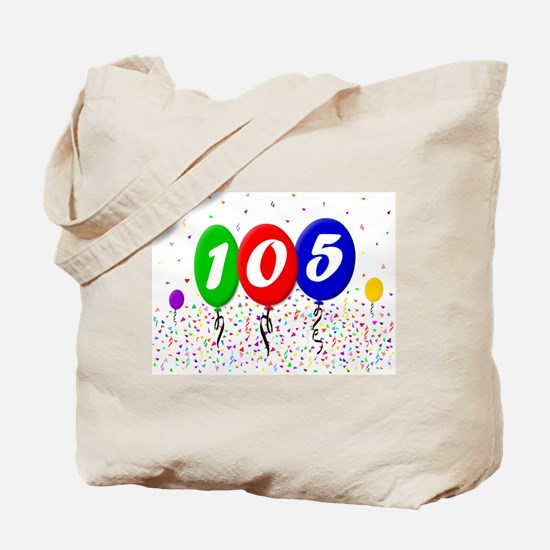 105th Birthday Tote Bag