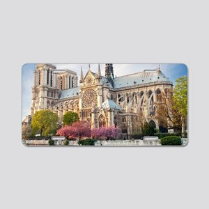Notre Dame Cathedral Aluminum License Plate