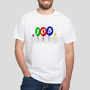 105th Birthday White T-Shirt