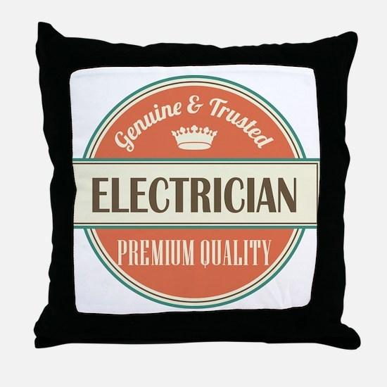 electrician vintage logo Throw Pillow
