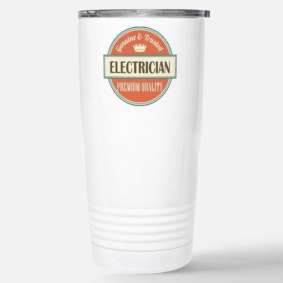 electrician vintage log Stainless Steel Travel Mug