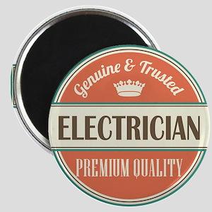 electrician vintage logo Magnet