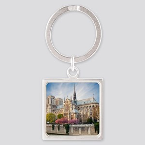 Notre Dame Cathedral Square Keychain