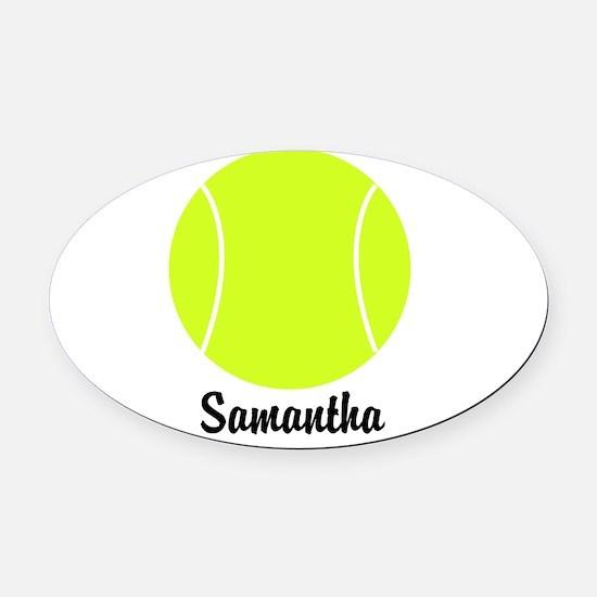 Tennis Ball Oval Car Magnet