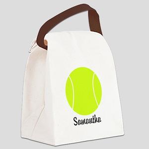 Tennis Ball Canvas Lunch Bag